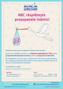 reducere speciala Acvatic Bebe Club