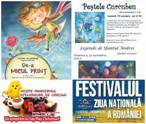 evenimente spectacole copii 27-28-29-30 noiembrie
