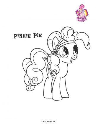 Planse de colorat Micii Ponei Pinkie Pie