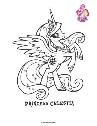 Planse de colorat Micii Ponei Princess Celestia