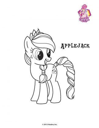Planse de colorat Micii Ponei Applejack