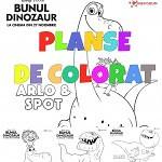 planse de colorat bunul dinozaur