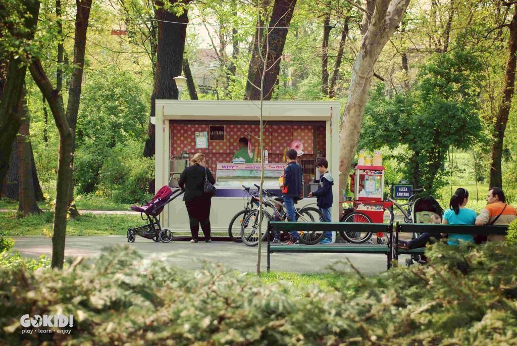 Parcul Carol toneta inghetata