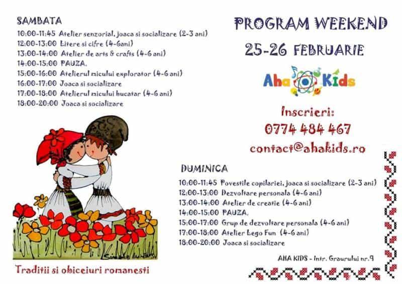 Ateliere de weekend pentru copii la Aha Kids 25-26 februarie