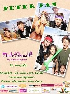 Peter Pan Program MiniArtShow in luna Iulie. Intrare libera!