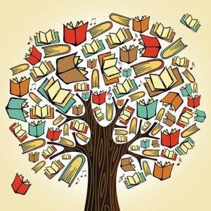 Copacul cu carti in Parcul Cismigiu