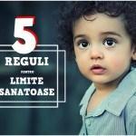 reguli importante in stabilirea unor limite sanatoase copiilor