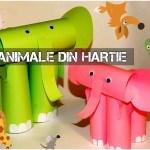 animale din hârtie activitati copii