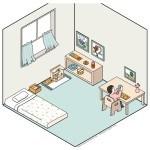 amenajarea camerei copilului in stil Montessori