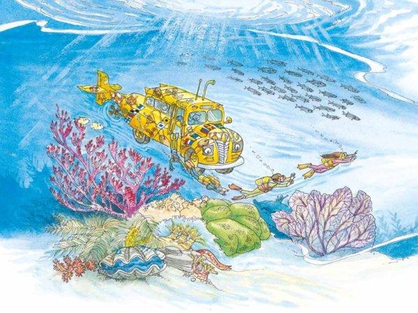 Cartea Autobuzul magic.In adancul oceanului de Joanna Cone cu ilustratii de Bruce Degen