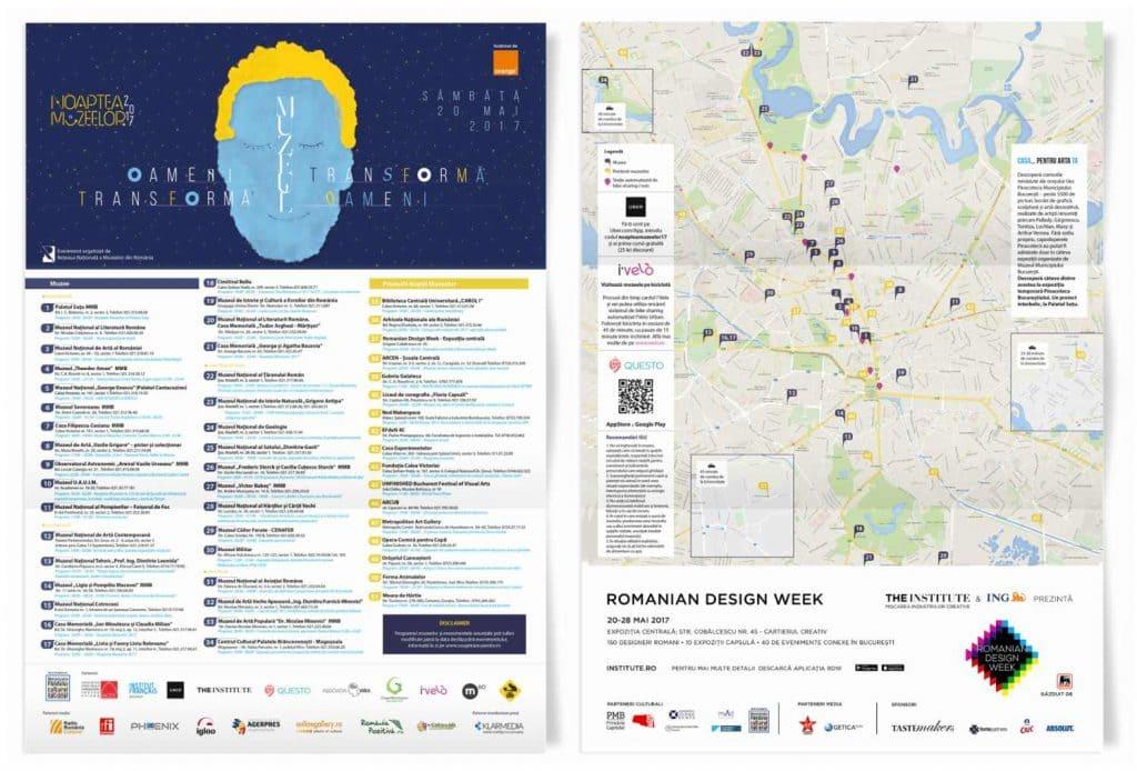 Harta eveniment Bucuresti Noaptea Muzeelor 2017