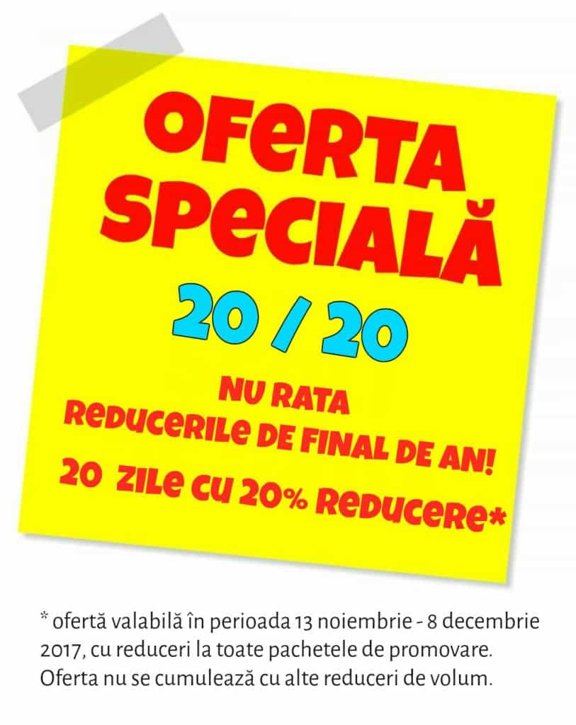 Oferta speciala 20-20 pachete de prmomvare GOKID