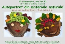 "Atelier senzorial ""Autoportret din materiale naturale"" 1-4 ani afis 22 septembrie"