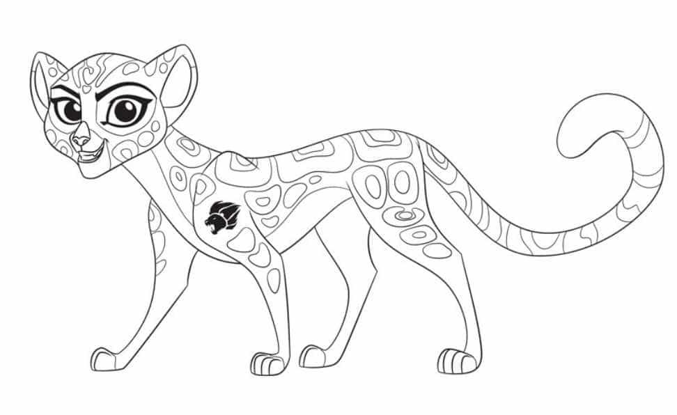 planse de colorat garda felina Fuli