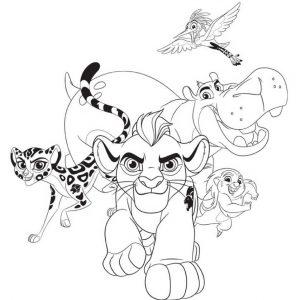 planse de colorat garda felina grup
