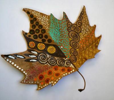 activitate cu frunze pictate