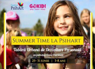Summer Time la Psihart, Tabara Urbana de Dezvoltare Personala 3-8 ani gokid