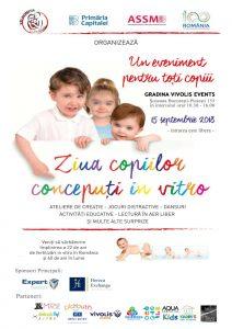 Ziua Copiilor Conceputi in Vitro. Eveniment dedicat Copiilor