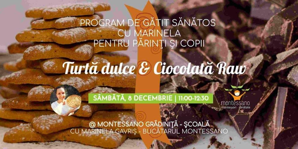 Atelier gustari dulci turta dulce ciocolata raw montessano gokid montessano final