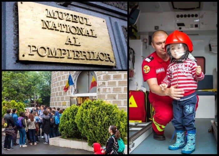 Muzeul National al Pompierilor copii intrare placa