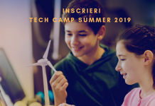 START INSCRIERI TECH CAMP SUMMER 2019