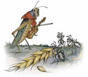 the-ants-and-the-grasshopper 140 Fabule de Esop în Engleza