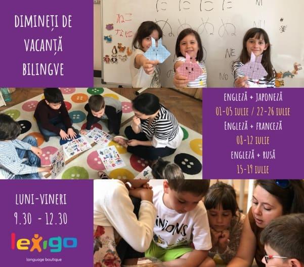 Dimineti de Vacanta Bilingve la Lexigo Language Boutique 2019