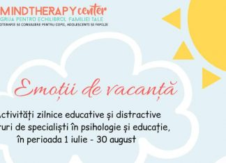 Emotii de Vacanta. Scoala de Vara MindTherapy Center | 3-10 ani