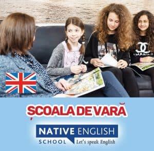 Scoala de Vara cu profesor nativ britanic! Native English School afis