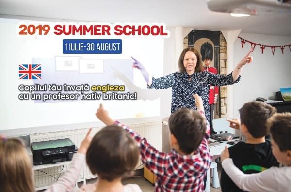Scoala de Vara cu profesor nativ britanic! Native English School afis summer school