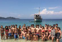 Tabara Internationala de Vara pe Insula Thassos, Grecia grup mare yacht